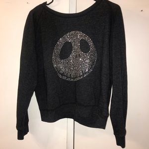 Custom Jack Skellington Crop Sweatshirt